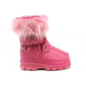Детски ботуши - висококачествена еко-кожа - розови - EO-14928