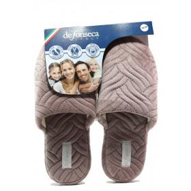Дамски пантофи - висококачествен текстилен материал - розови - EO-14753