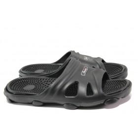 Джапанки - висококачествен pvc материал - черни - EO-13899