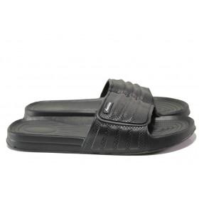 Джапанки - висококачествен pvc материал - черни - EO-13962