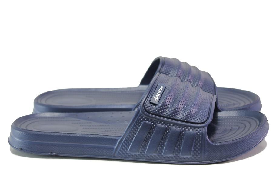 Джапанки - висококачествен pvc материал - сини - EO-13963