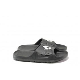 Джапанки - висококачествен pvc материал - черни - EO-13961