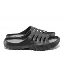 Джапанки - висококачествен pvc материал - черни - EO-14049