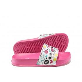Джапанки - висококачествен pvc материал - розови - EO-14056