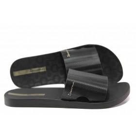 Дамски чехли - висококачествен pvc материал - черни - EO-14103