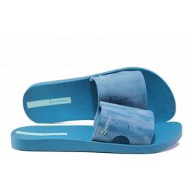 Дамски чехли - висококачествен pvc материал - сини - EO-14105