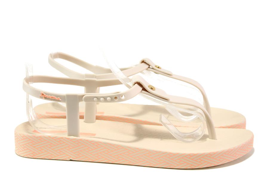 Дамски сандали - висококачествен pvc материал - бежови - EO-14129