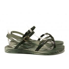 Дамски сандали - висококачествен pvc материал - зелени - EO-14126