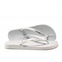 Дамски чехли - висококачествен pvc материал - бели - EO-14109