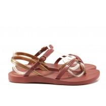 Дамски сандали - висококачествен pvc материал - червени - EO-14127