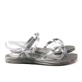 Дамски сандали - висококачествен pvc материал - сребро - EO-14125