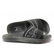 Мъжки чехли - висококачествен pvc материал - черни - EO-14143