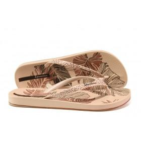 Дамски чехли - висококачествен pvc материал - розови - EO-14123