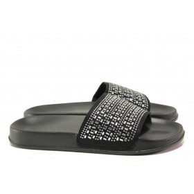 Джапанки - висококачествен pvc материал - черни - EO-14160