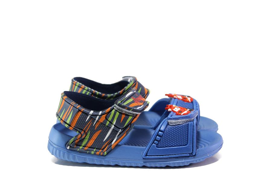 Детски сандали - висококачествен pvc материал - сини - EO-14176