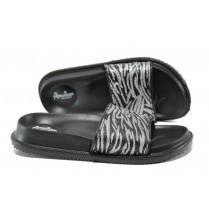 Дамски чехли - висококачествен pvc материал - черни - EO-14221