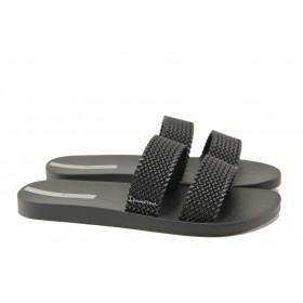 Дамски чехли - висококачествен pvc материал - черни - EO-14227