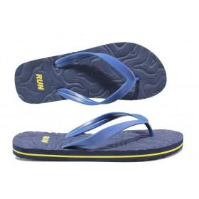 Джапанки - висококачествен pvc материал - сини - EO-14246