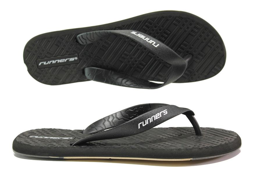 Джапанки - висококачествен pvc материал - черни - EO-14249