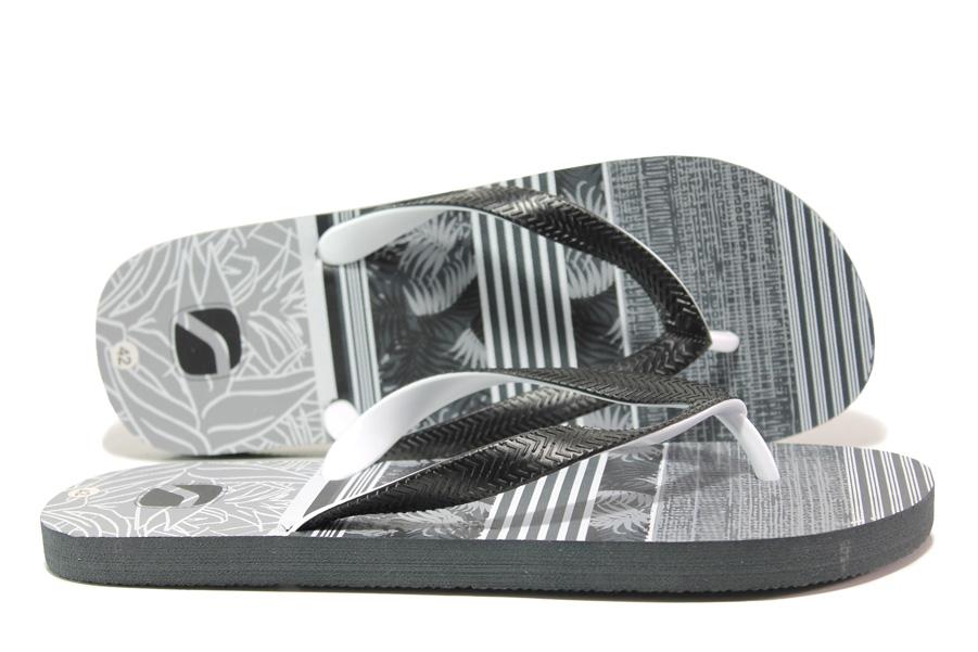 Джапанки - висококачествен pvc материал - черни - EO-14247
