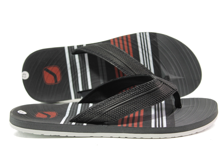 Джапанки - висококачествен pvc материал и текстил - черни - EO-14244
