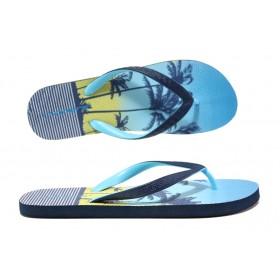 Джапанки - висококачествен pvc материал - сини - EO-14251
