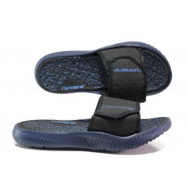 Джапанки - висококачествен pvc материал и текстил - тъмносин - EO-14242