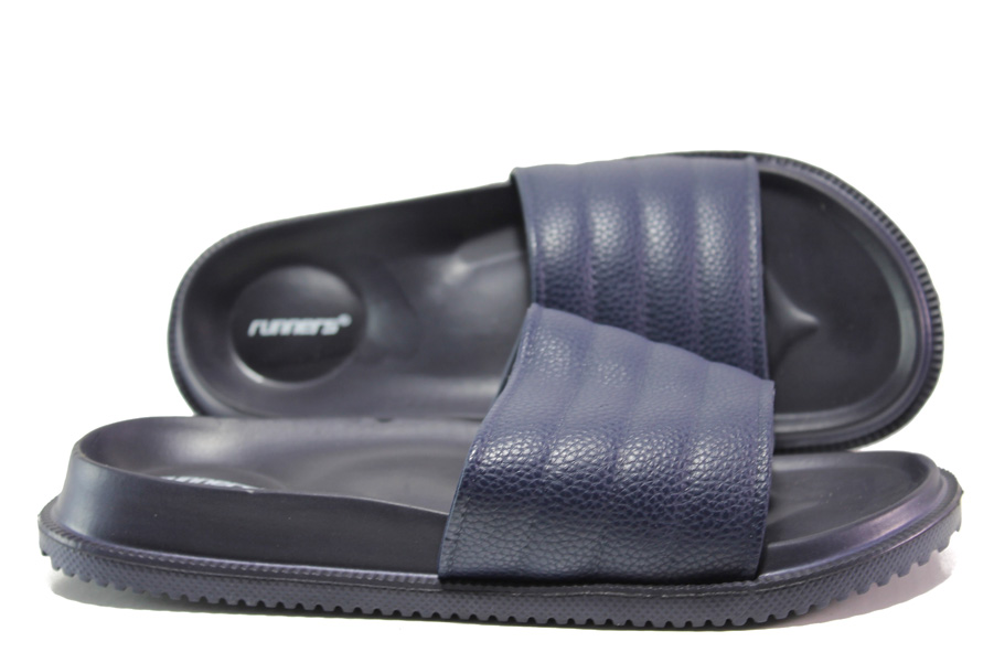 Джапанки - висококачествен pvc материал - сини - EO-14238