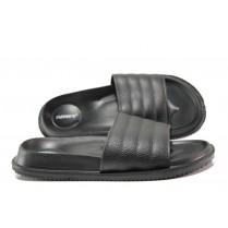 Джапанки - висококачествен pvc материал - черни - EO-14237