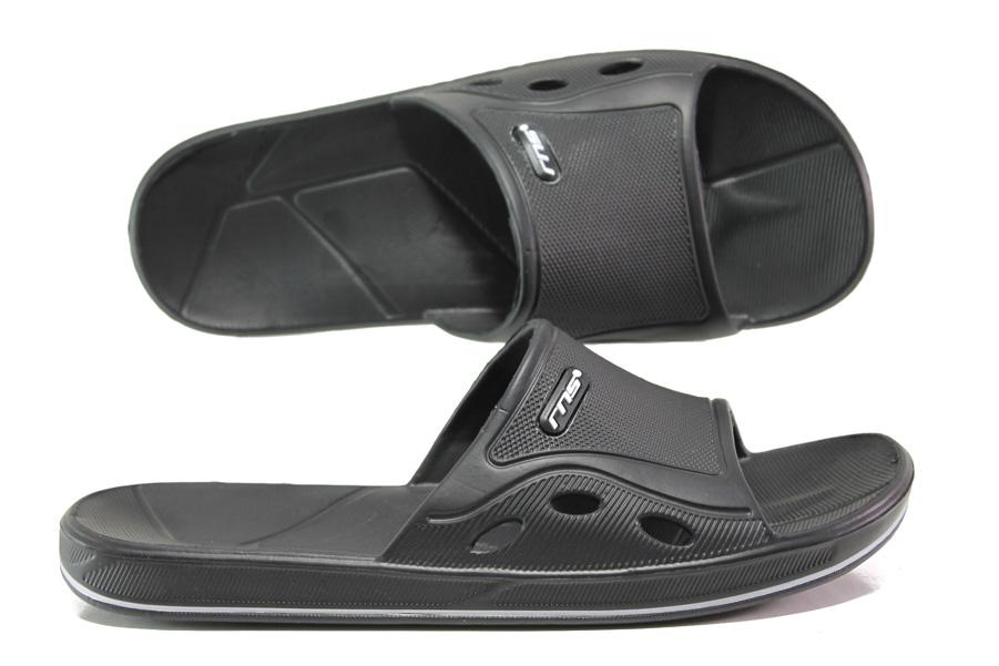 Джапанки - висококачествен pvc материал - черни - EO-14239