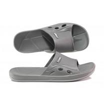 Джапанки - висококачествен pvc материал - сиви - EO-14240
