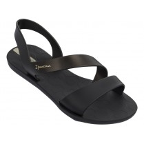 Дамски сандали - висококачествен pvc материал - черни - EO-14236