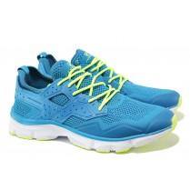 Мъжки маратонки - висококачествен текстилен материал - светлосин - EO-13721