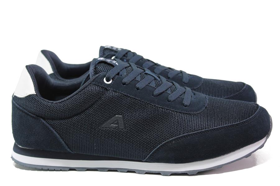 Мъжки маратонки - висококачествен текстилен материал - тъмносин - EO-13717