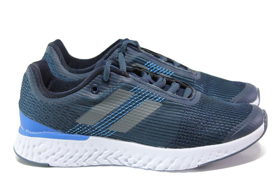 Юношески маратонки - висококачествен текстилен материал - тъмносин - EO-13802