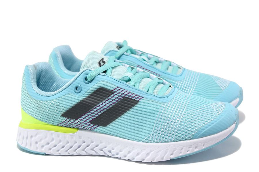 Юношески маратонки - висококачествен текстилен материал - светлосин - EO-13801