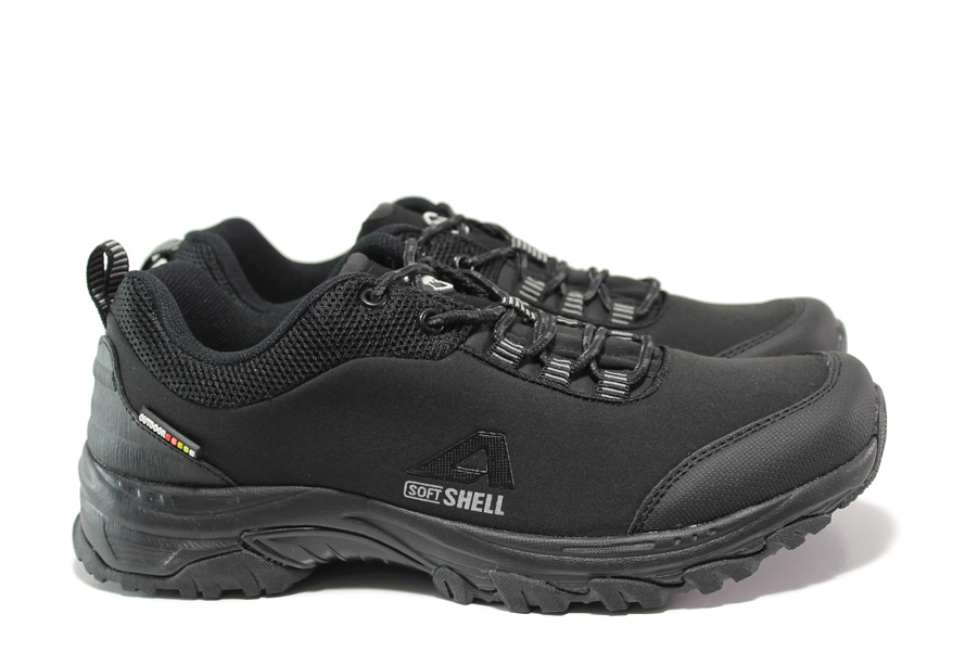 Мъжки маратонки - текстилен материал - черни - EO-14396