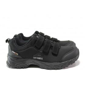 Юношески маратонки - текстилен материал - черни - EO-14399