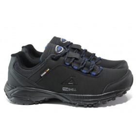 Мъжки маратонки - висококачествен текстилен материал - черни - EO-14426