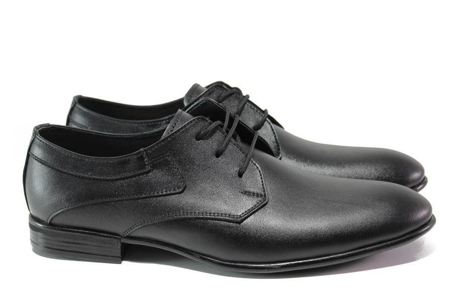 Мъжки обувки - естествена кожа - черни - EO-13667