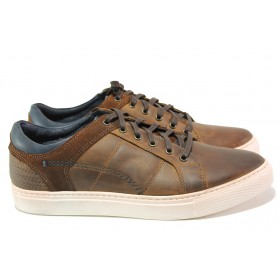 Мъжки обувки - естествена кожа - кафяви - EO-13817