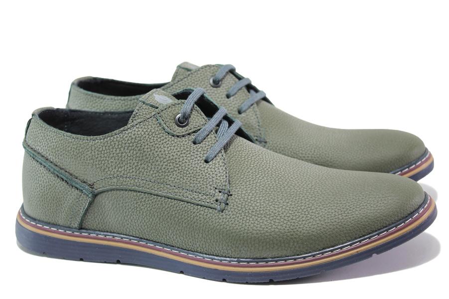 Мъжки обувки - естествена кожа - зелени - EO-13816