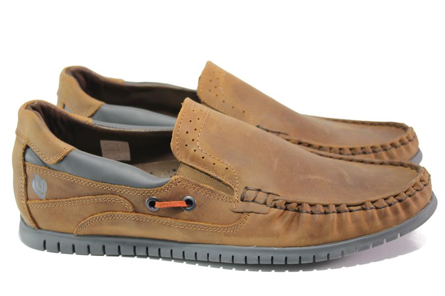 Мъжки обувки - естествена кожа - кафяви - EO-13940