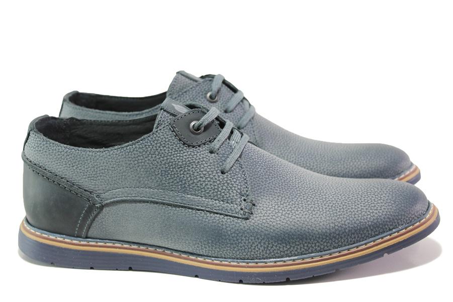Мъжки обувки - естествена кожа - сини - EO-13935