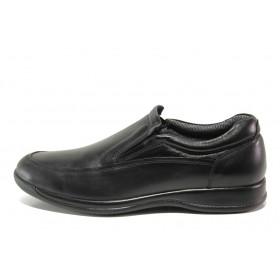 Мъжки обувки - естествена кожа - черни - EO-14385