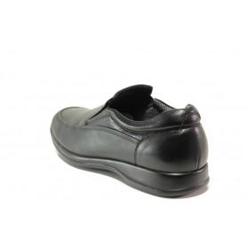 Мъжки обувки - естествена кожа - черни - EO-15310