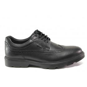 Мъжки обувки - естествена кожа - черни - EO-14389