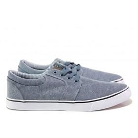 Мъжки обувки - висококачествен текстилен материал - тъмносин - EO-14178