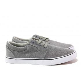 Мъжки обувки - висококачествен текстилен материал - сиви - EO-14177