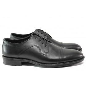 Мъжки обувки - естествена кожа - черни - EO-14550